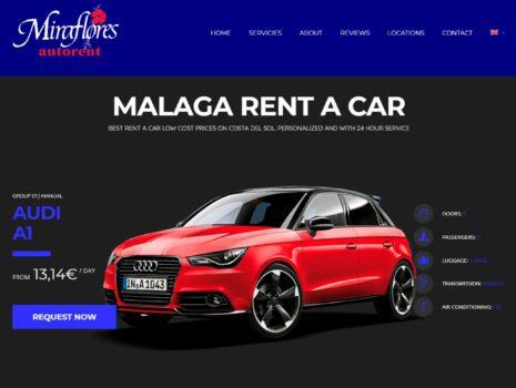 Diseño web para la pagina Alquiler de coches Miraflores