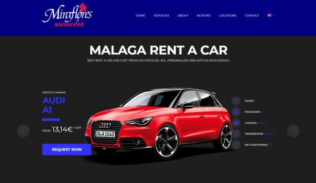 Diseño web Alquiler de coches Miraflores