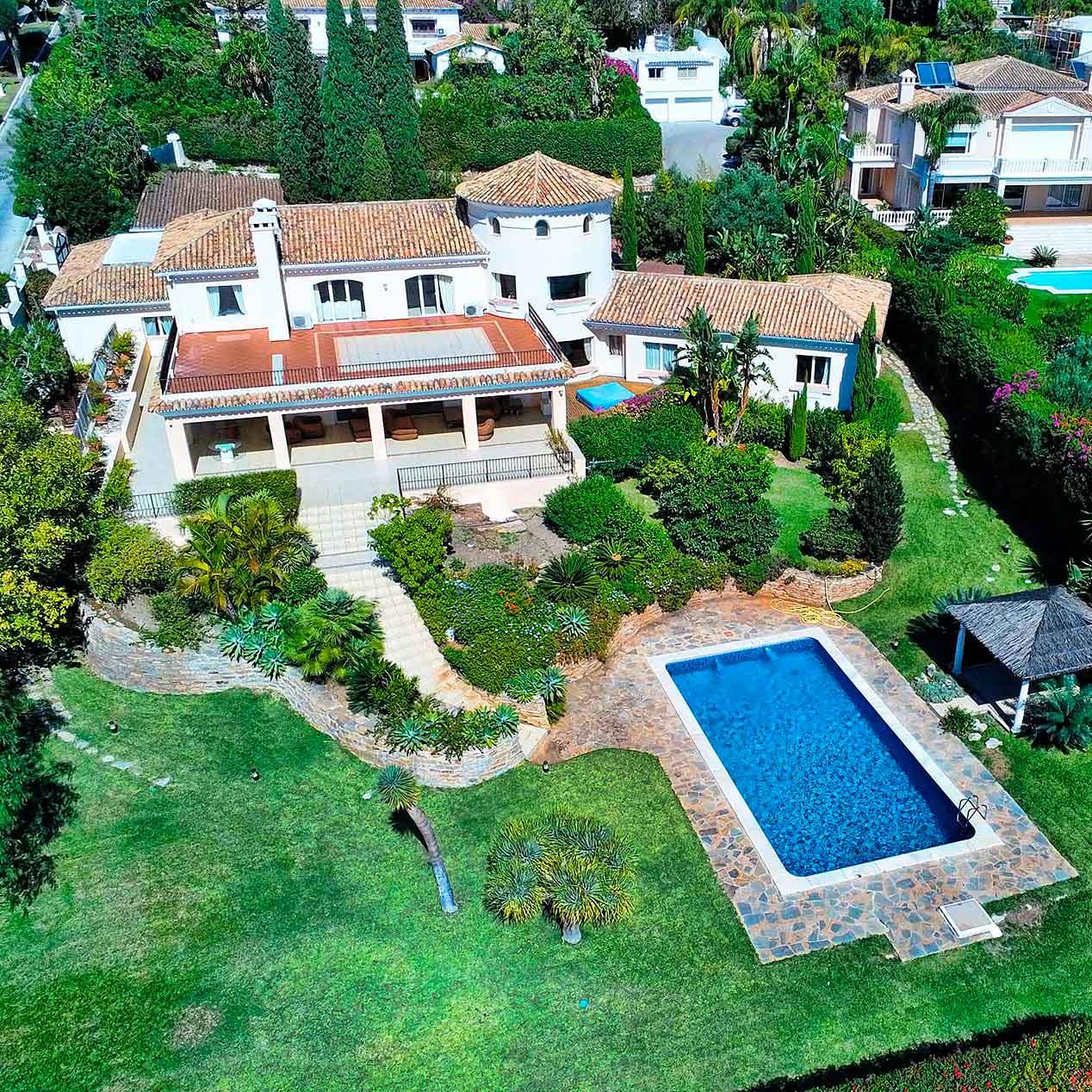 Fotos de la villa en Sierra blanca, Marbella