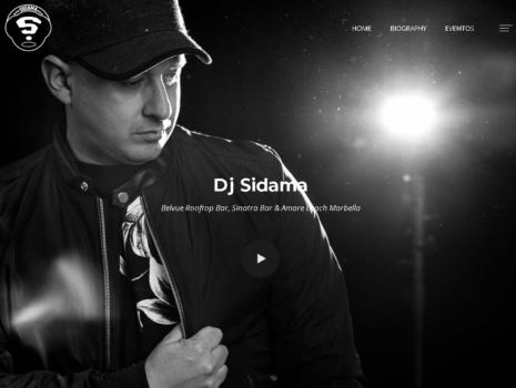 Diseño web para la pagina web de DJ Sidama, Marbella