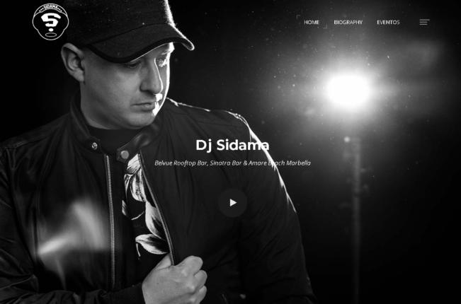Diseño web DJ Sidama, Marbella