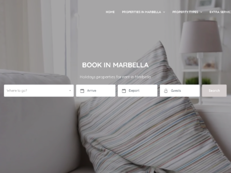 Desarollo de la pagina web de alquiler de propiedades bookinmarbella.com