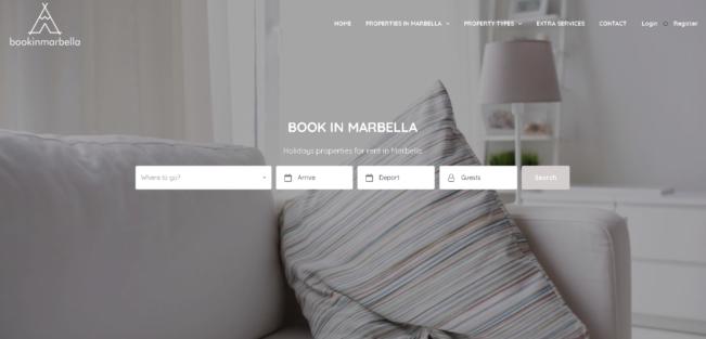 Desarollo web de alquiler de propiedades bookinmarbella.com